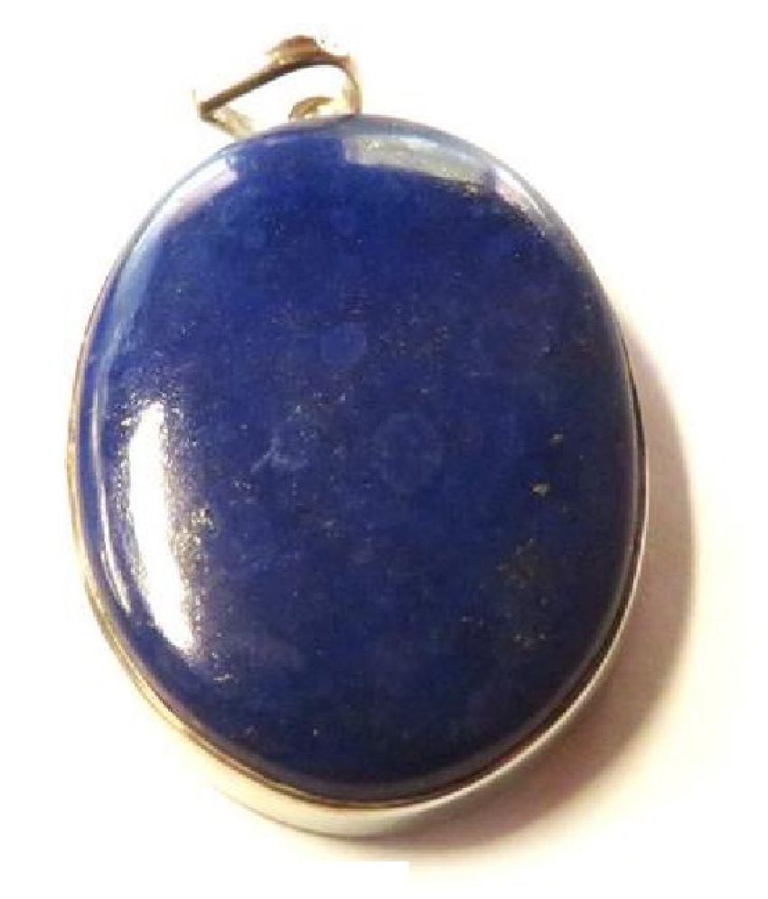 5.5 carat Natural silver  lapis lazuli  Pendant by  Ratan Bazaar\n