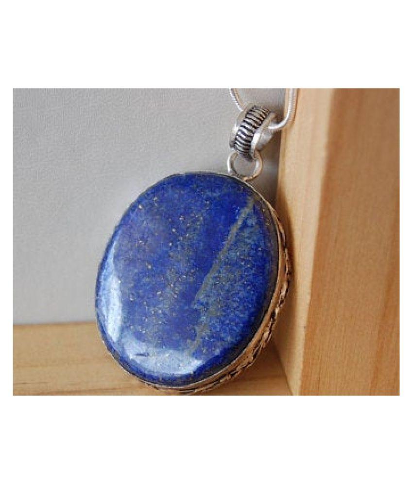 7.25 ratti silver  lapis lazuli  Pendantfor unisex by  Ratan Bazaar\n