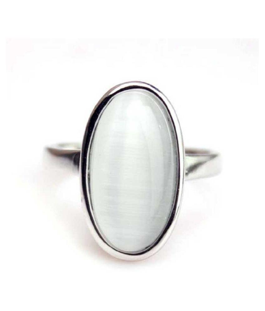 MOONSTONE  Ring 6.25 Ratti 100% Original Silver MOONSTONE  Stone by  Kundli Gems