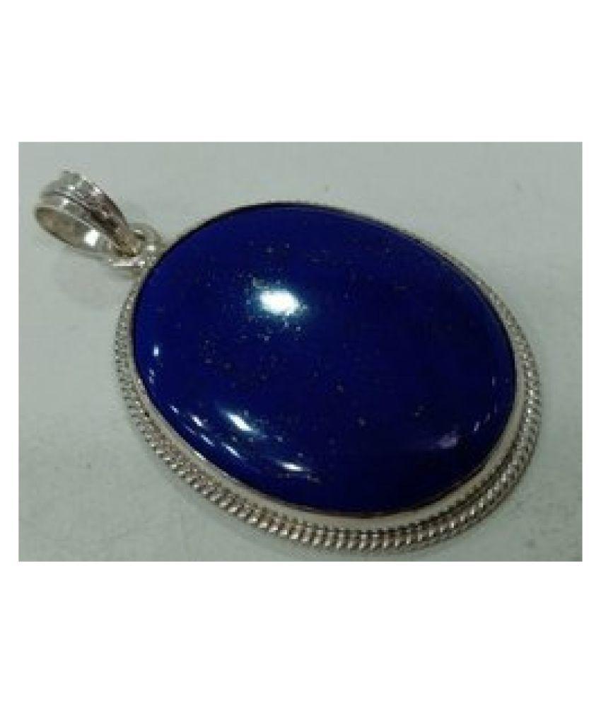 Unheated & Untreated lapis lazuli  silver Pendant9.5 Original & Certified Stone by  Ratan Bazaar