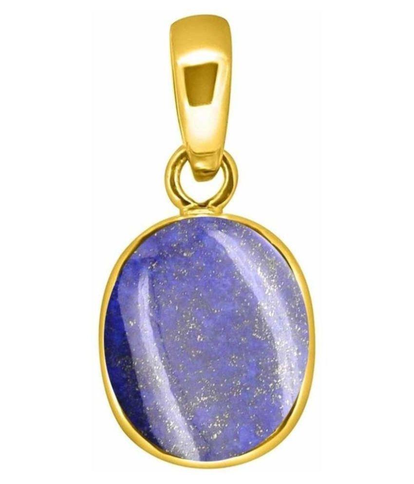 lapis lazuli Natural & Unheated Stone  11 Ratti Lapis lazuli gold plated Pendant by  Ratan Bazaar
