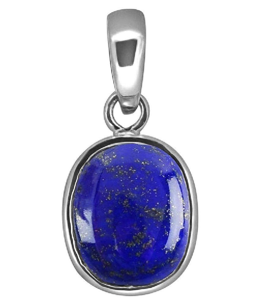 11.5 ratti natural lapis lazuli  Stone pure Silver Pendant