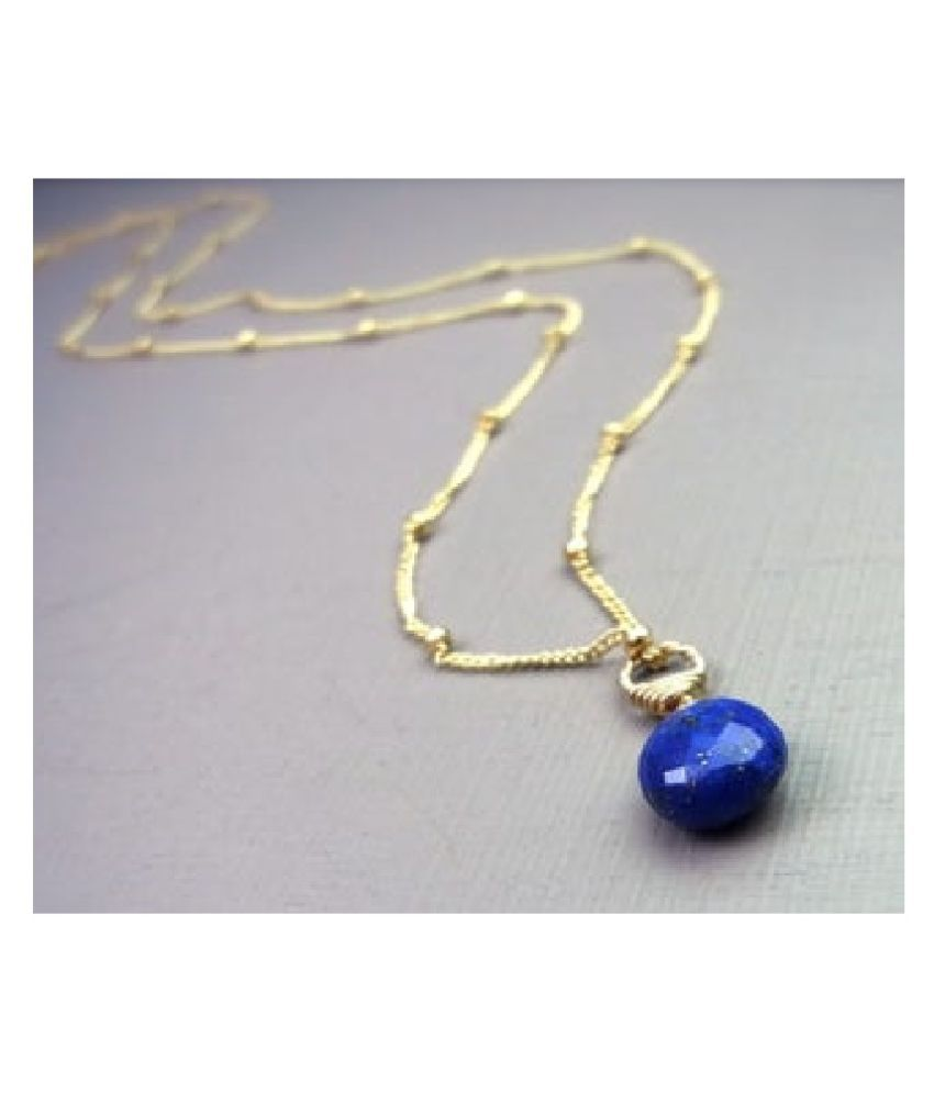 12.25 Real 12.25 Ratti Lapis lazuli gold plated Pendant for astrological purpose by  Ratan Bazaar