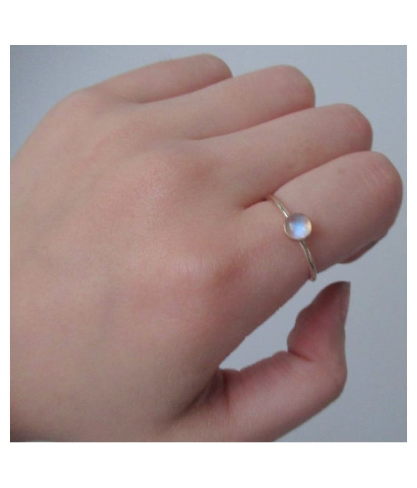 7.25 Ratti  Gold Plated MOONSTONE  Stone Ring by Kundli Gems
