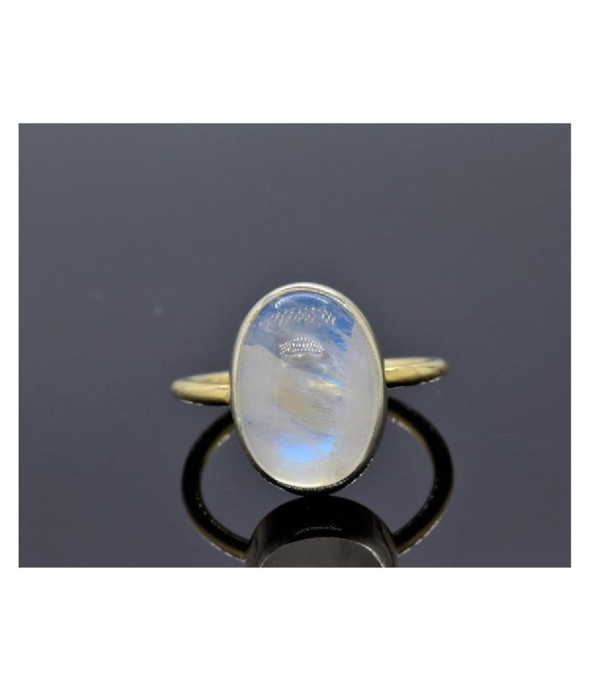 8.5 RATTI Gold Plated  MOONSTONE  Ring by Kundli Gems\n