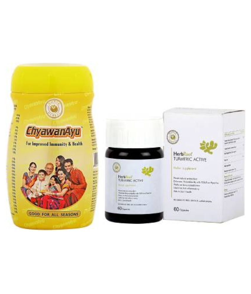 HerbRoot Immunity - ChyawanAyu & Turmeric Active Capsule 60 no.s