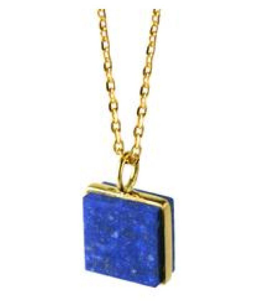 lapis lazuli Pendant Stone 12.25 Ratti gold plated Pendant  Natural Stone By  Ratan Bazaar