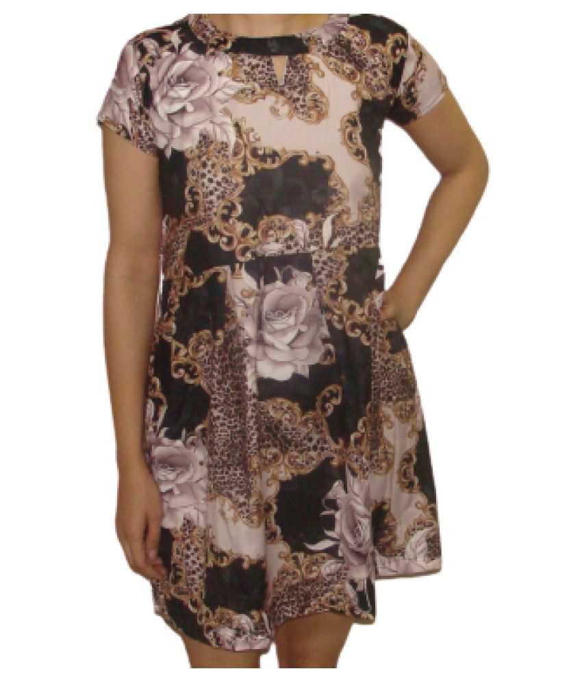VEXMON Rayon Multi Color Regular Dress