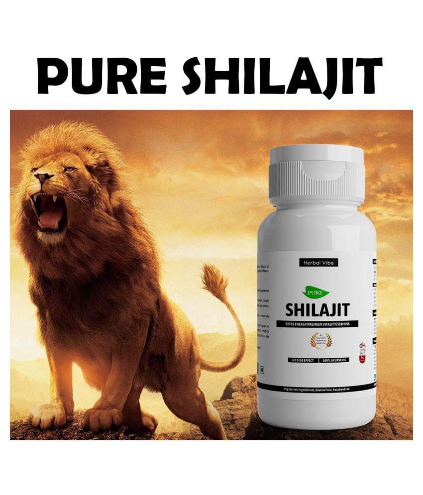 Herbal Vibe Pure Shilajit Capsule Natural Shilajeet Capsule 60 no.s