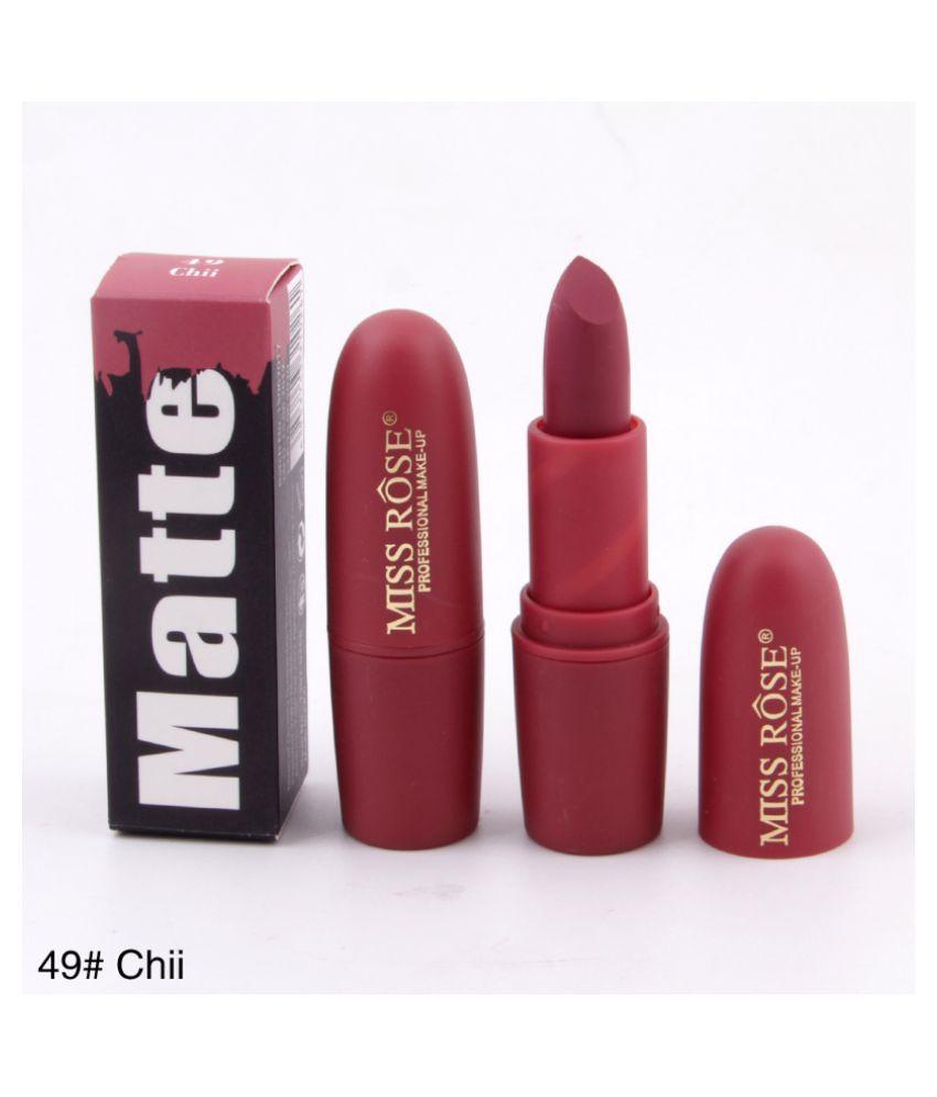 Miss Rose Professional Makeup Matte Lipstick Purple 3.4 g