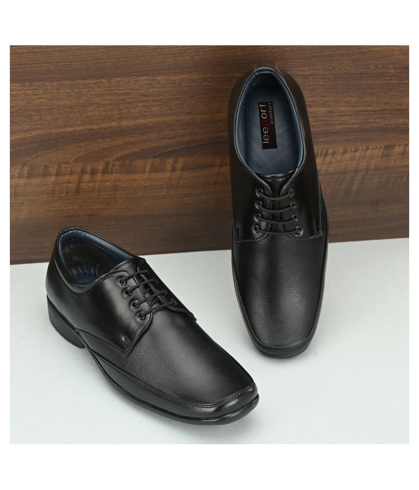 Leeport Derby Non-Leather Black Formal