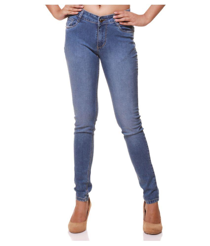Flaunt Cotton Lycra Jeans - Blue