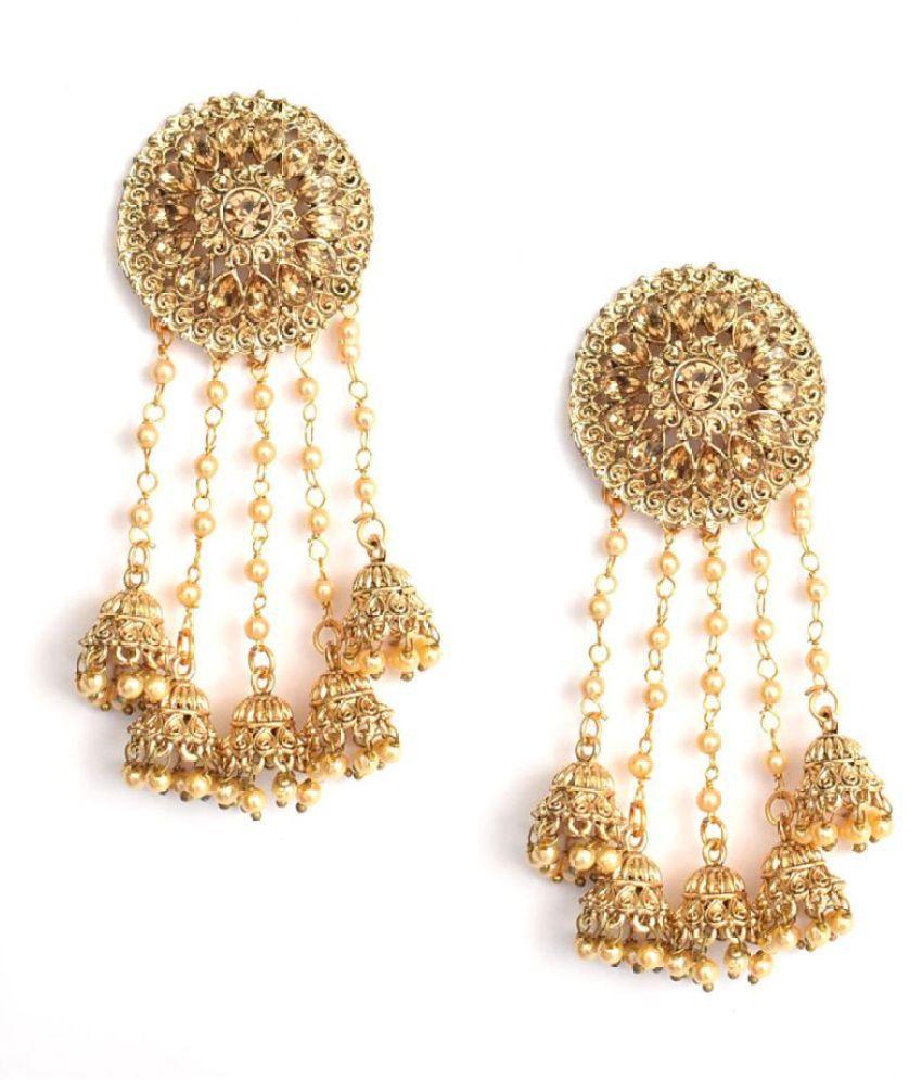 Jaishree Jewels Golden Jhumki Bollywood Style Earrings for Women and Girls
