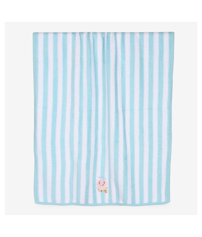 My Milestones Single Terry Bath Towel Aqua