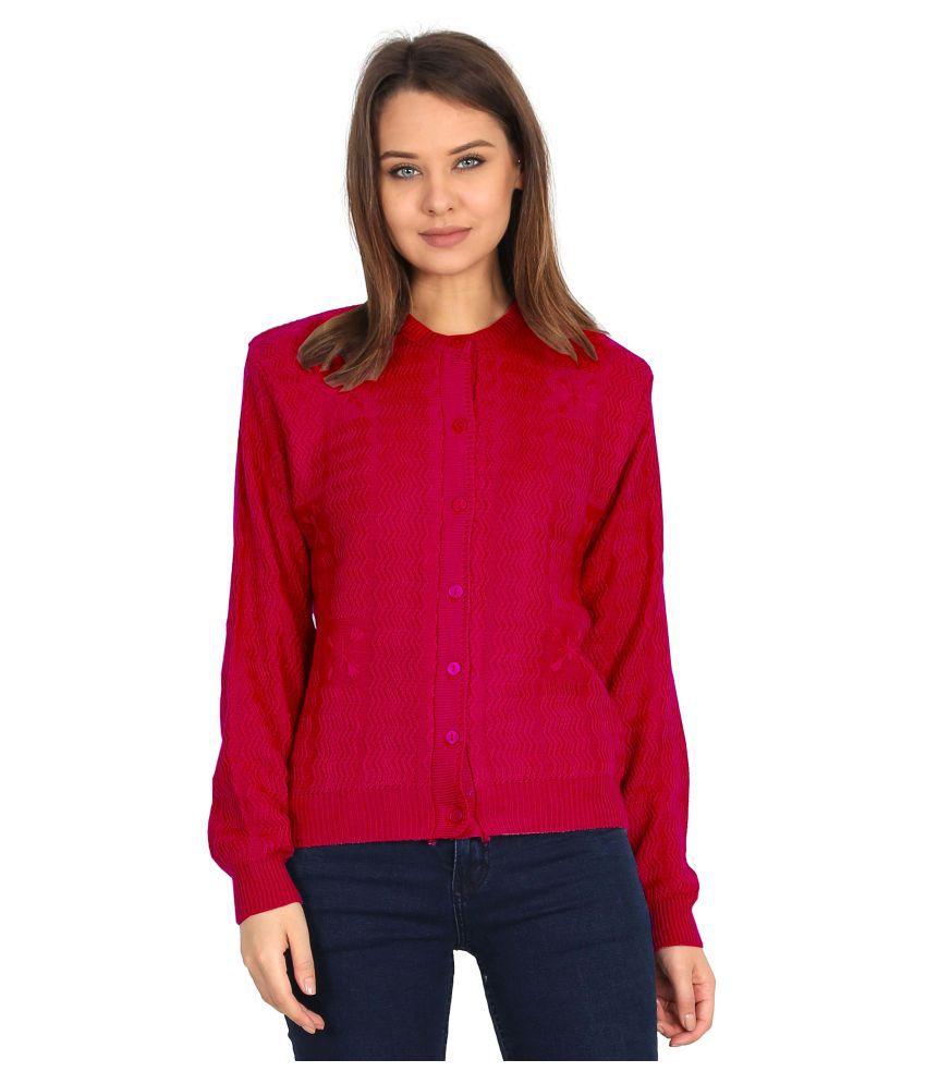 Urban Studio Woollen Pink Non Hooded Sweatshirt