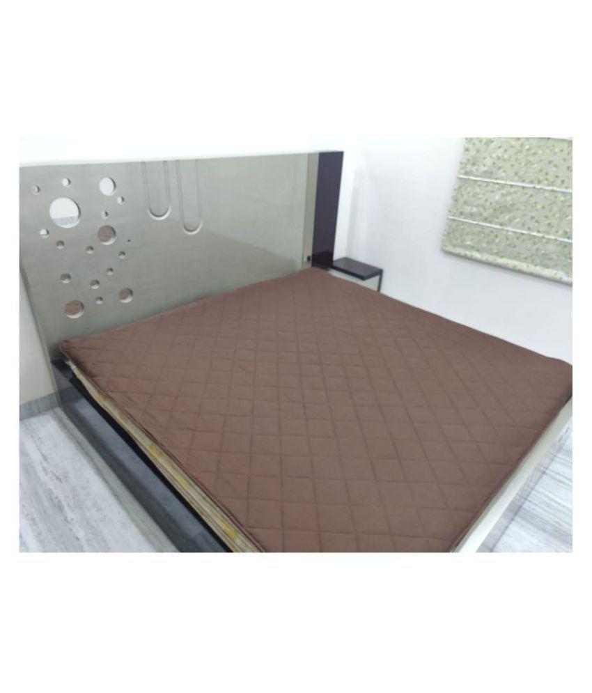 KS21 Homes Brown Cotton Mattress Protector
