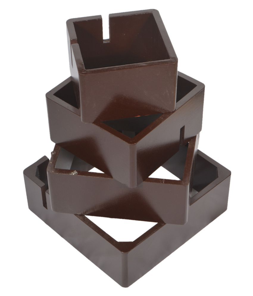 MAE002 Wood Square Decoratives Panel Brown - Pack of 1