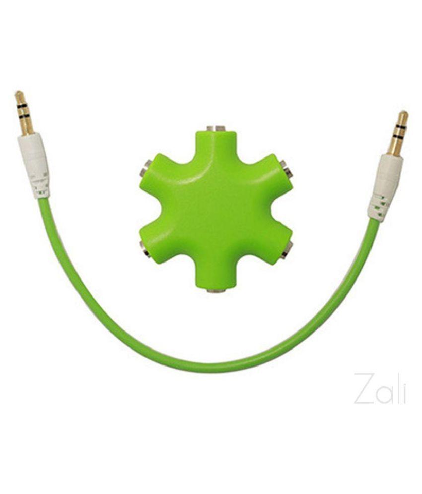 Winner Rockstar 3.5mm 6 - Port Multi Headphone Splitter (Green) RockStar AUX Splitter 0.1
