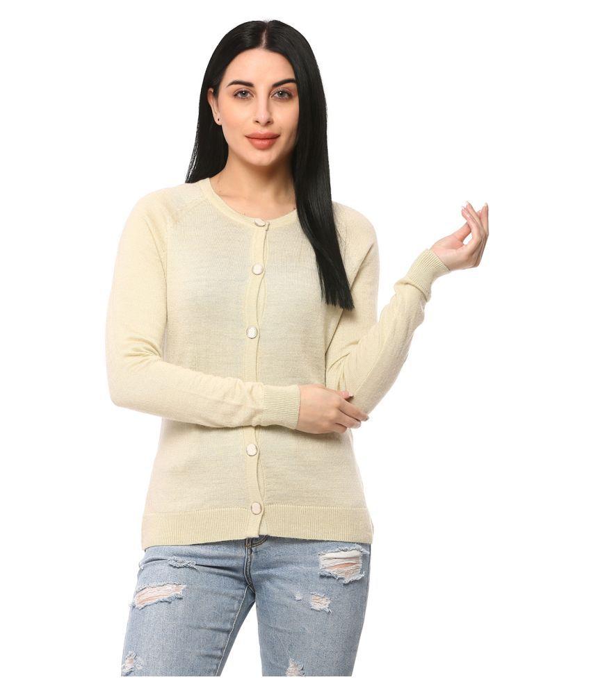 Glamaze Acrylic Beige Buttoned Cardigans