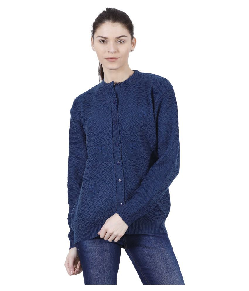 Urban Studio Woollen Blue Non Hooded Sweatshirt