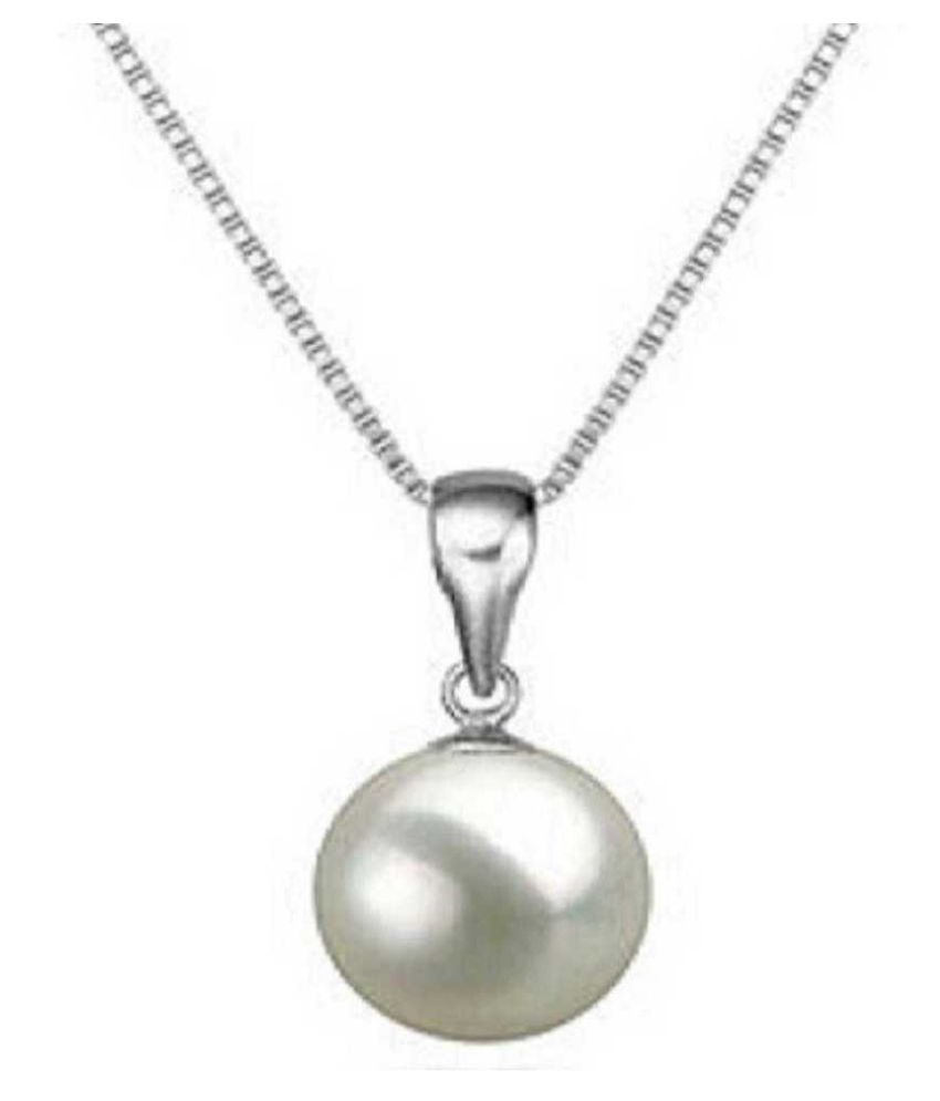 9 carat pure Pearl Silver Pendant without chain by Kundli Gems \n