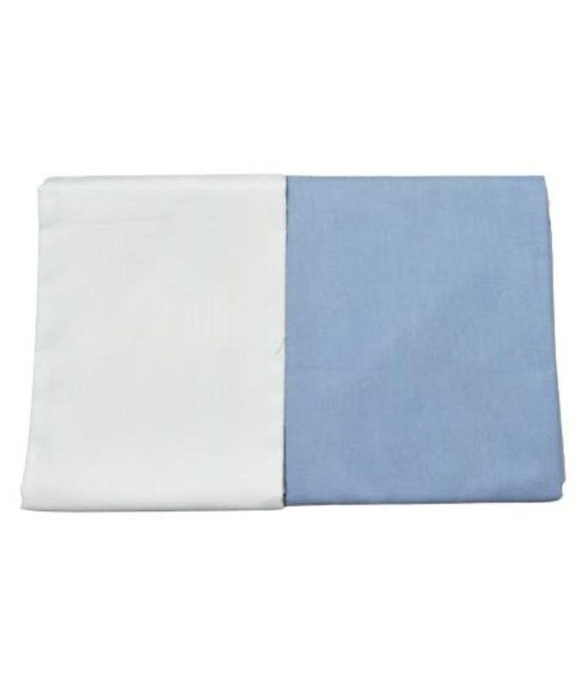 Makhanchor White 100 Percent Cotton Unstitched Shirt pc 2 Shirt fabric