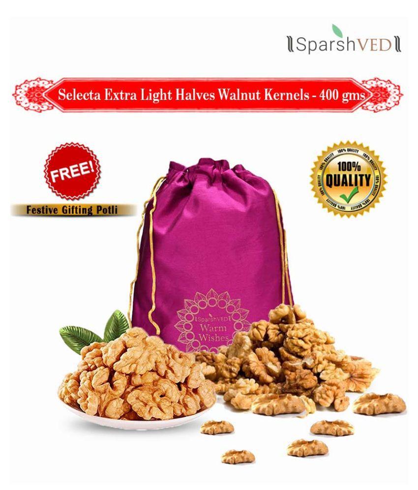 Sparshved Selecta Extra Light Halves Walnut Kernels (Akhrot Giri) 400g (Vacuum Packed)