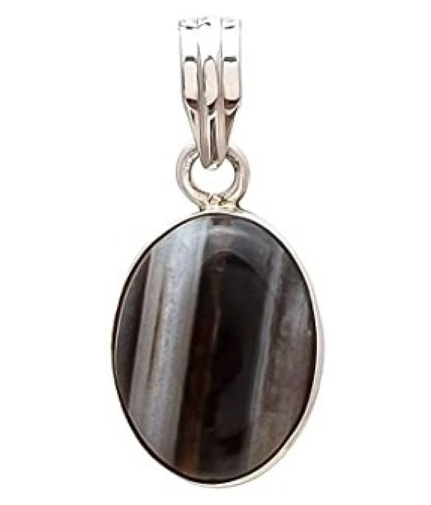 5 ratti Natural Sulemani Hakik Stone Unheated Lab Certified silver Pendant without chain by Ratan Bazaar\n