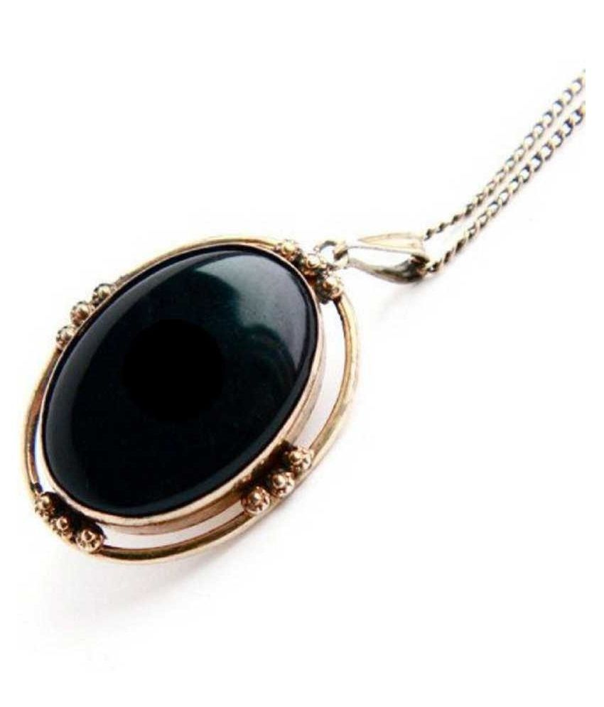 Gold Plated Agate/Hakik Stone Pendant 7.25 carat without chain by Ratan Bazaar