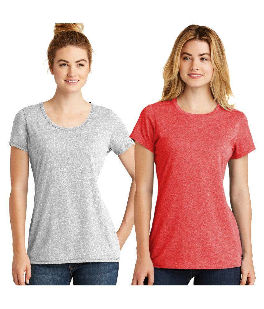 ADIMA Poly Cotton Grey T-Shirts