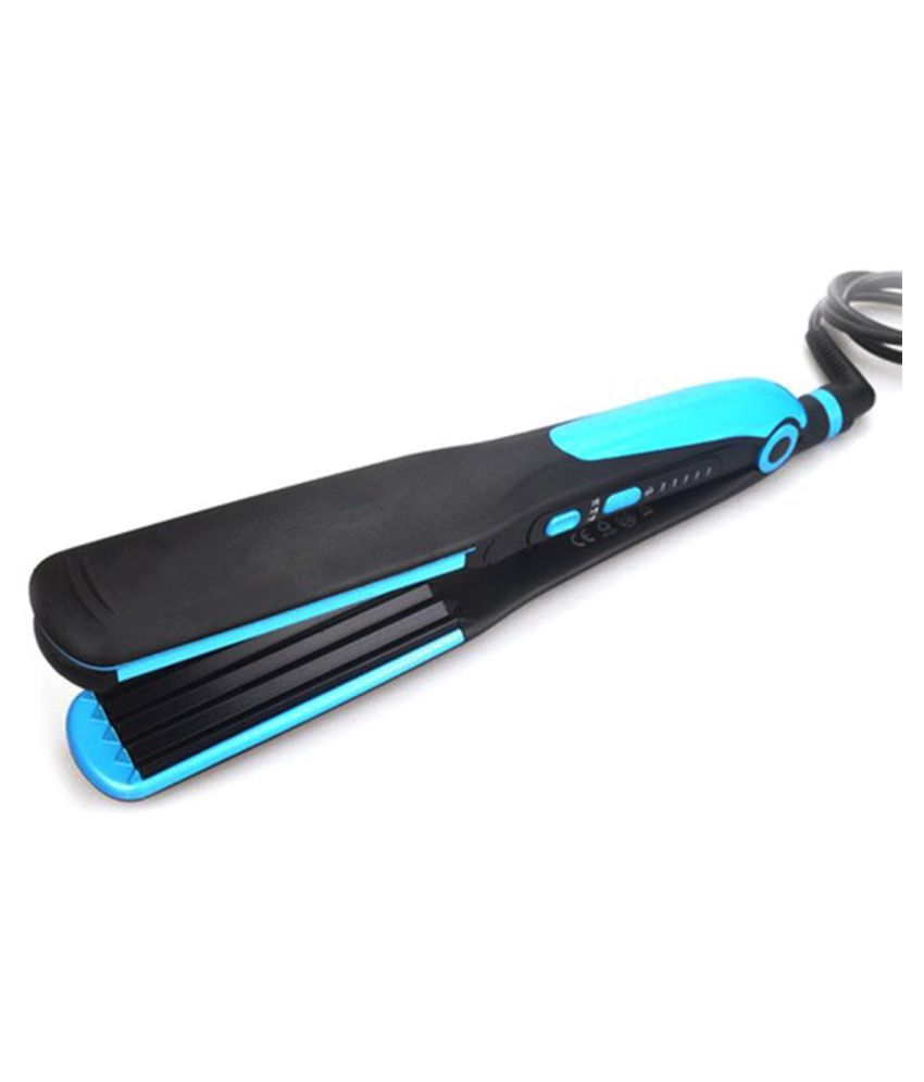 BP Professional Electronic Hair Straightener Hair Curler 2in1 Irons Hairstyling Blue Formal Fashion Comb