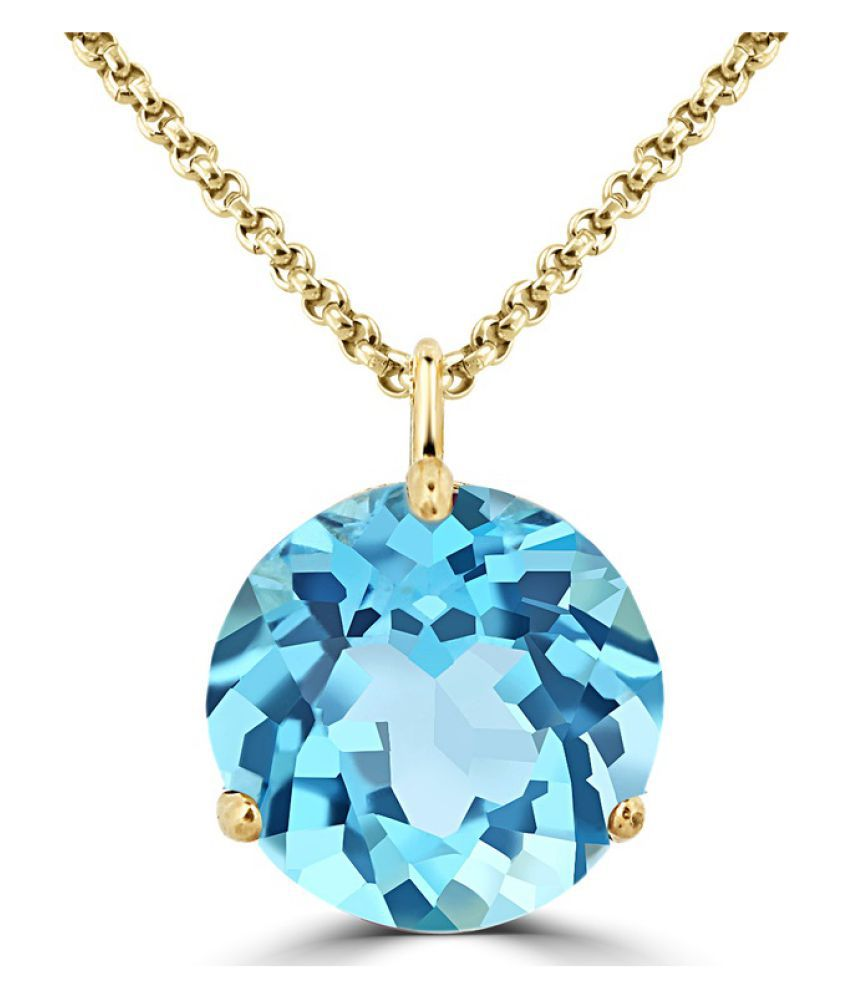 Topaz  Pendant in 6 carat  Gold Plated without chain by Ratan Bazaar