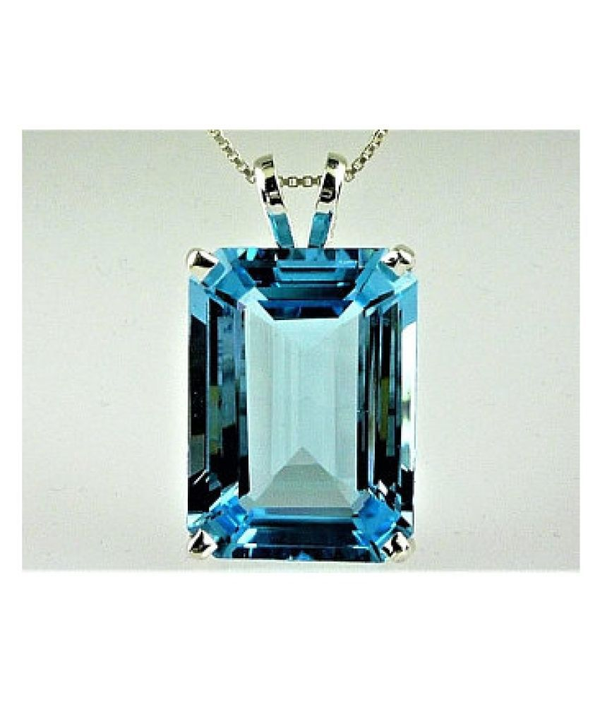 7.25 ratti Silver Topaz Pendant without chain for unisex by Kundli Gems\n
