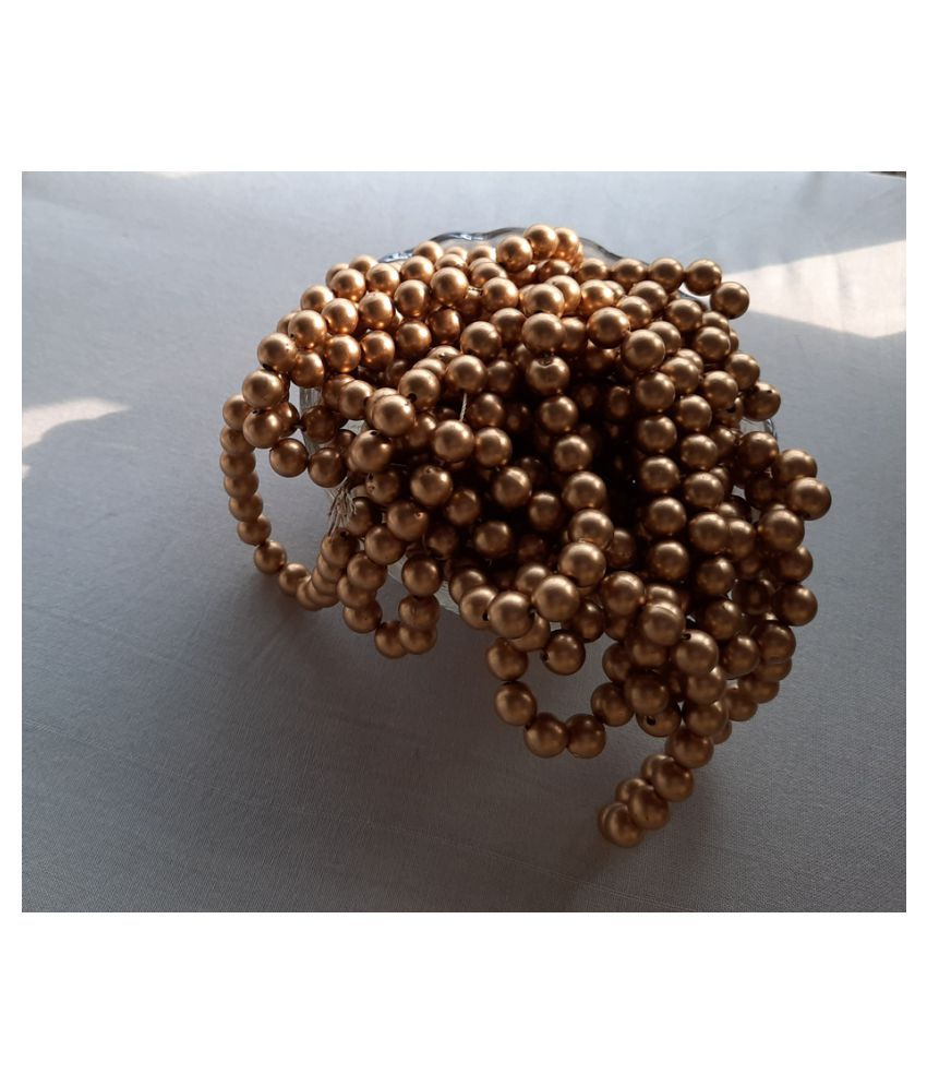 8mm 500pcs Round Gold Beads for Embroidery & Decoration