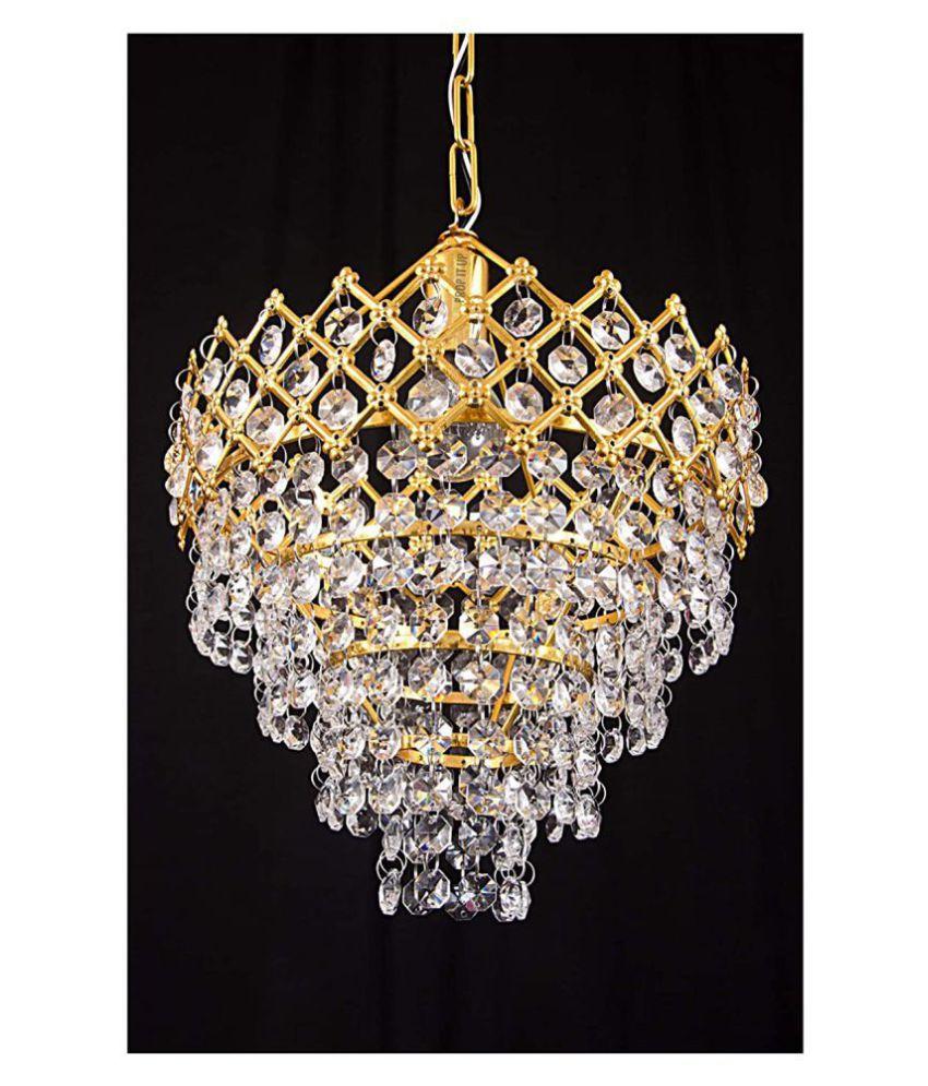 SAVORADE Glass DIVYANSH LIGHT Pendant Gold - Pack of 1