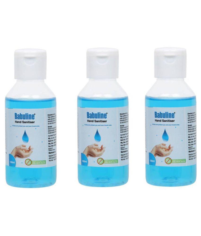 babuline Hand Sanitizer 100 mL Pack of 3