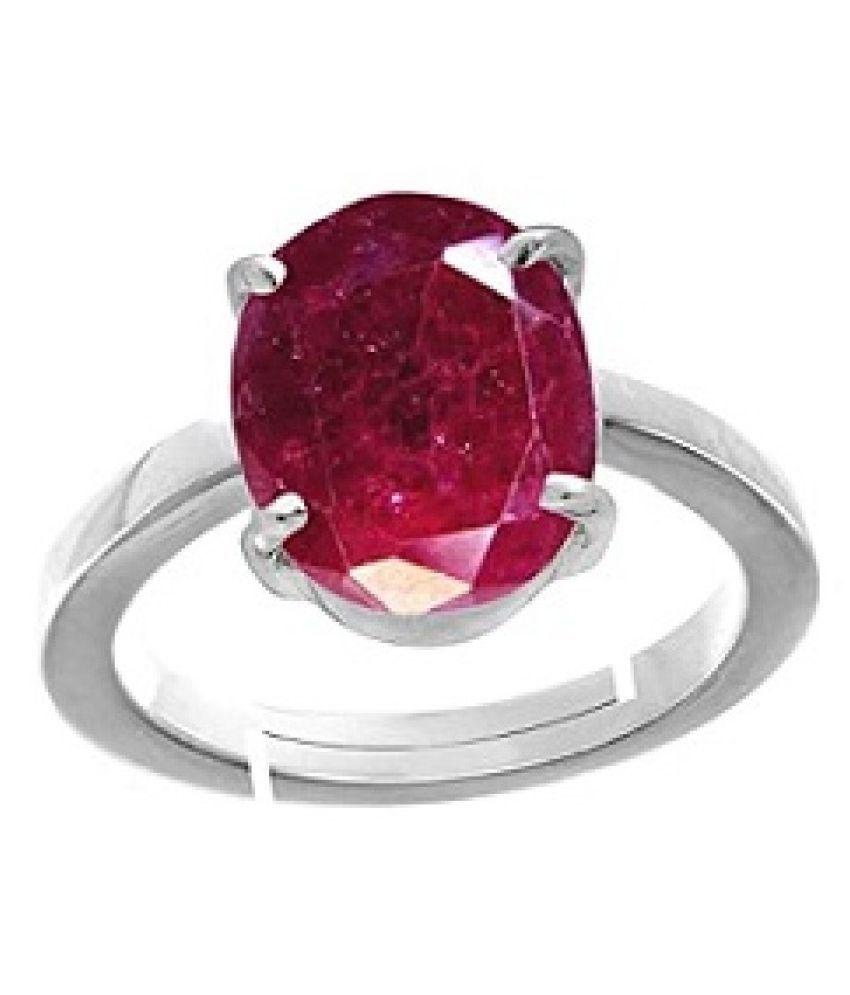 6.25 ratti Silver  Ruby(Manik) Ring for unisex by KUNDLI GEMS\n