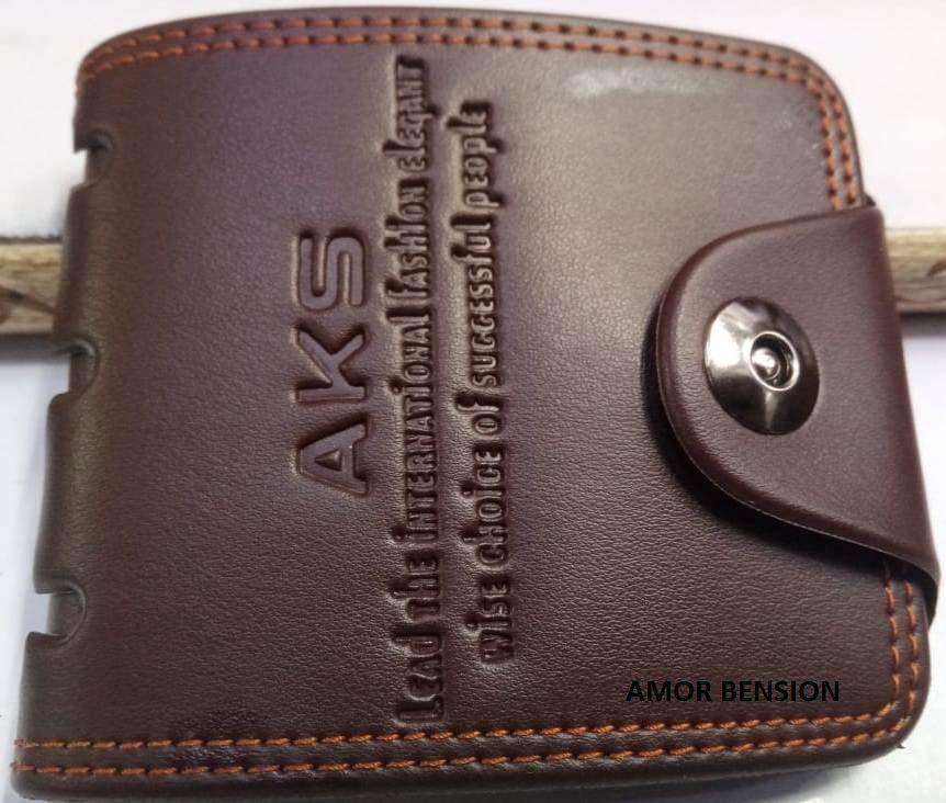 AKS PU Tan Wallet( Men's Purse )