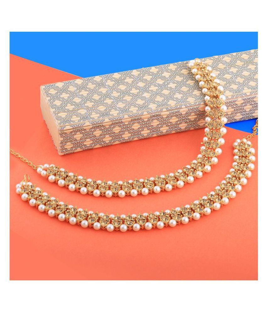 Gold plated Attractive Designer kundan Anklet for Women And Girl