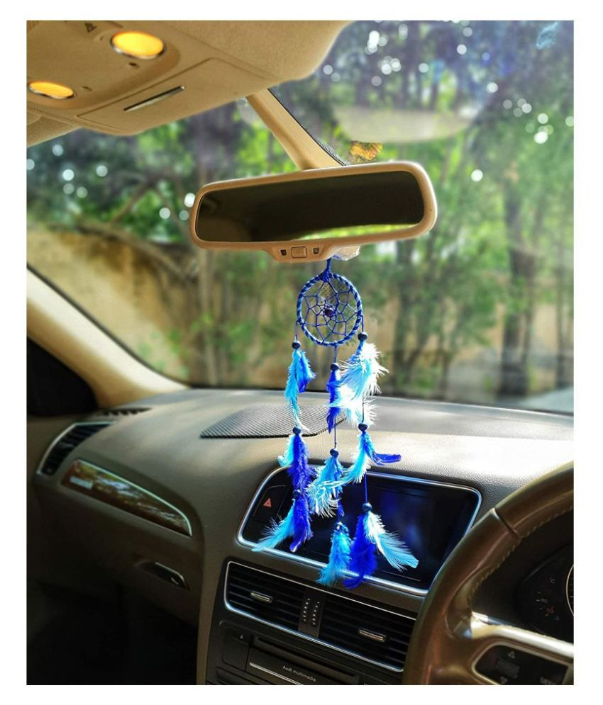 New Lucky Collection Dream Catcher In Car Decor Blue