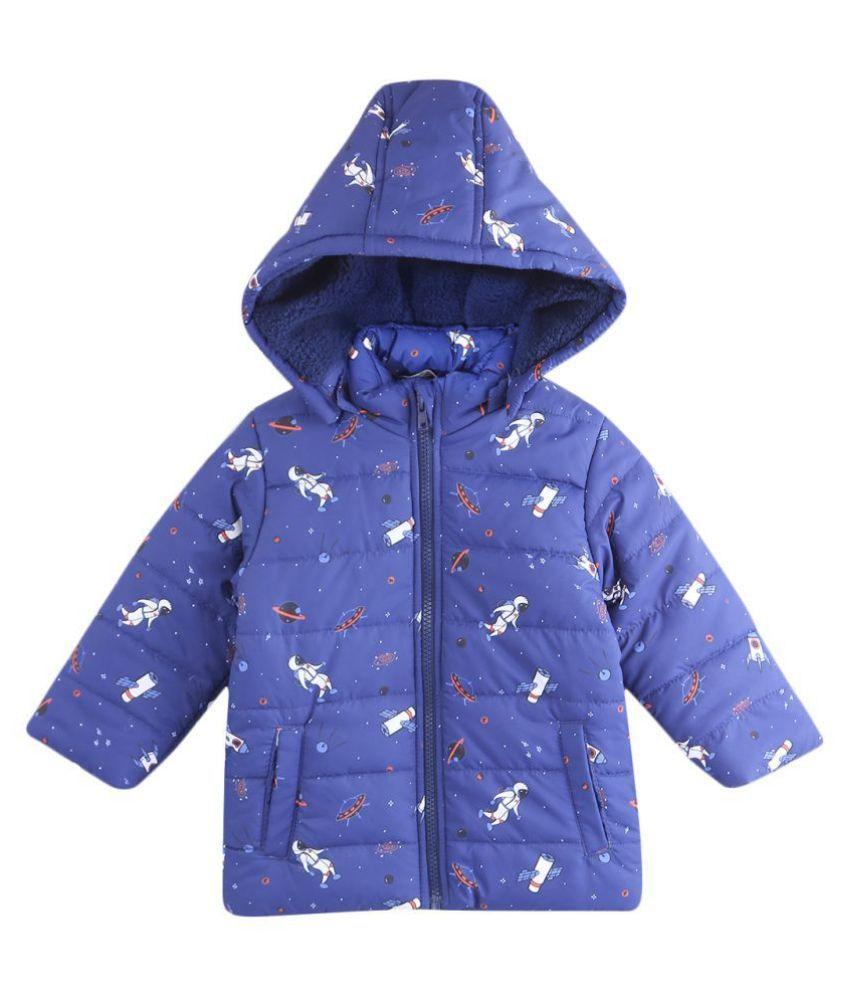 Space Print Jacket Blue 2-3Y