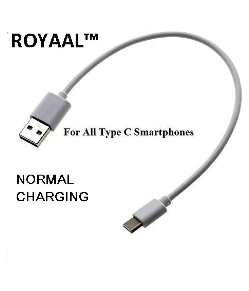 ROYAAL™ Short Length Type C to USB Charging to use with Power Bank Cable for Smartphones, Type C to USB
