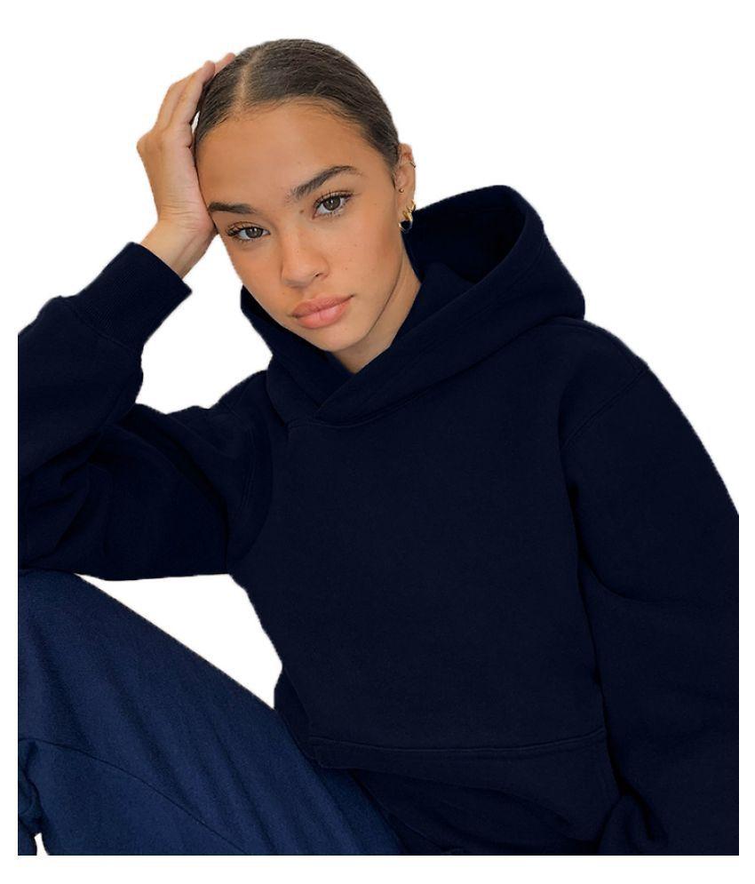 Piedpiper Cotton Blue Hooded Sweatshirt