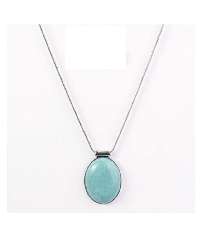 Turquoise  Pendant in 6 carat Silver without chain by Kundli Gems
