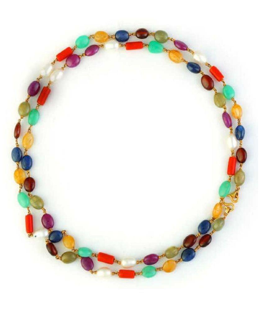 Kundli Gems- Unheated & Natural Navgrah Beads mala For Women & Men