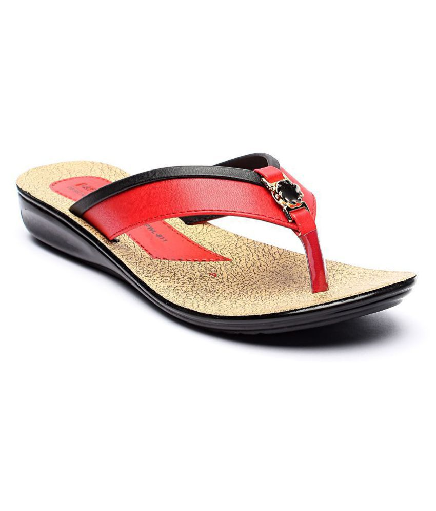 Parry Red Slippers