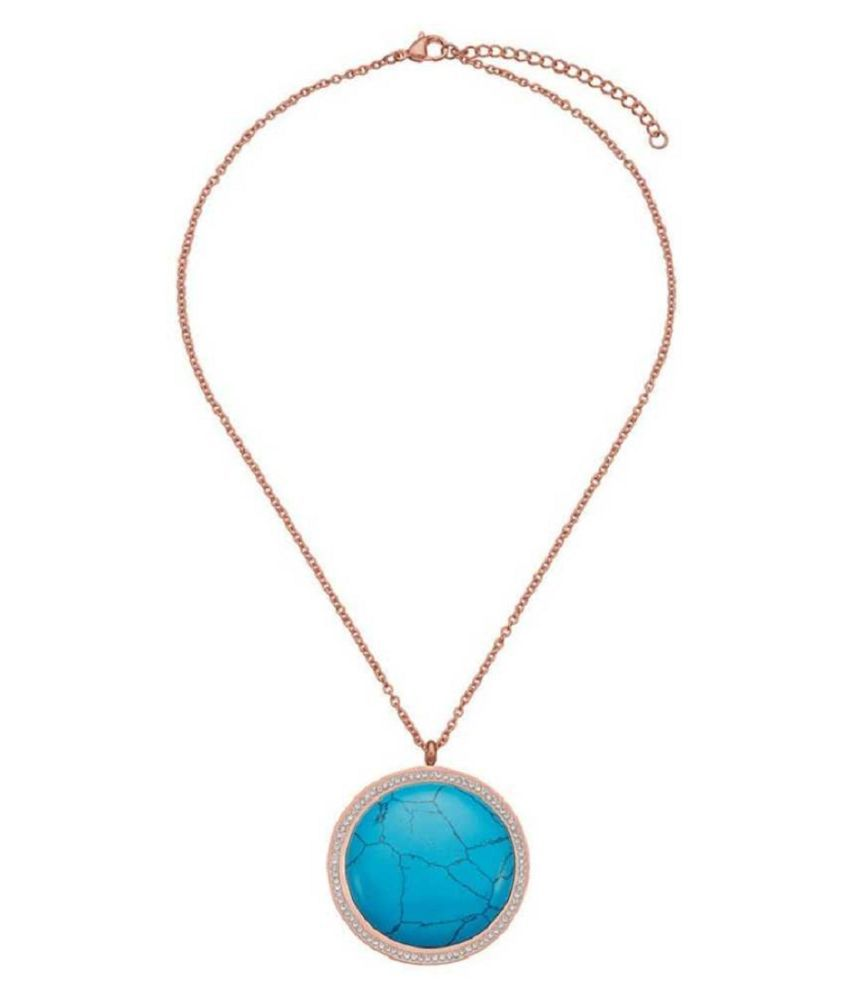 9 ratti Natural Turquoise (Firoza)  Stone Unheated Lab Certified Gold Plated Pendant without chain by Ratan Bazaar\n