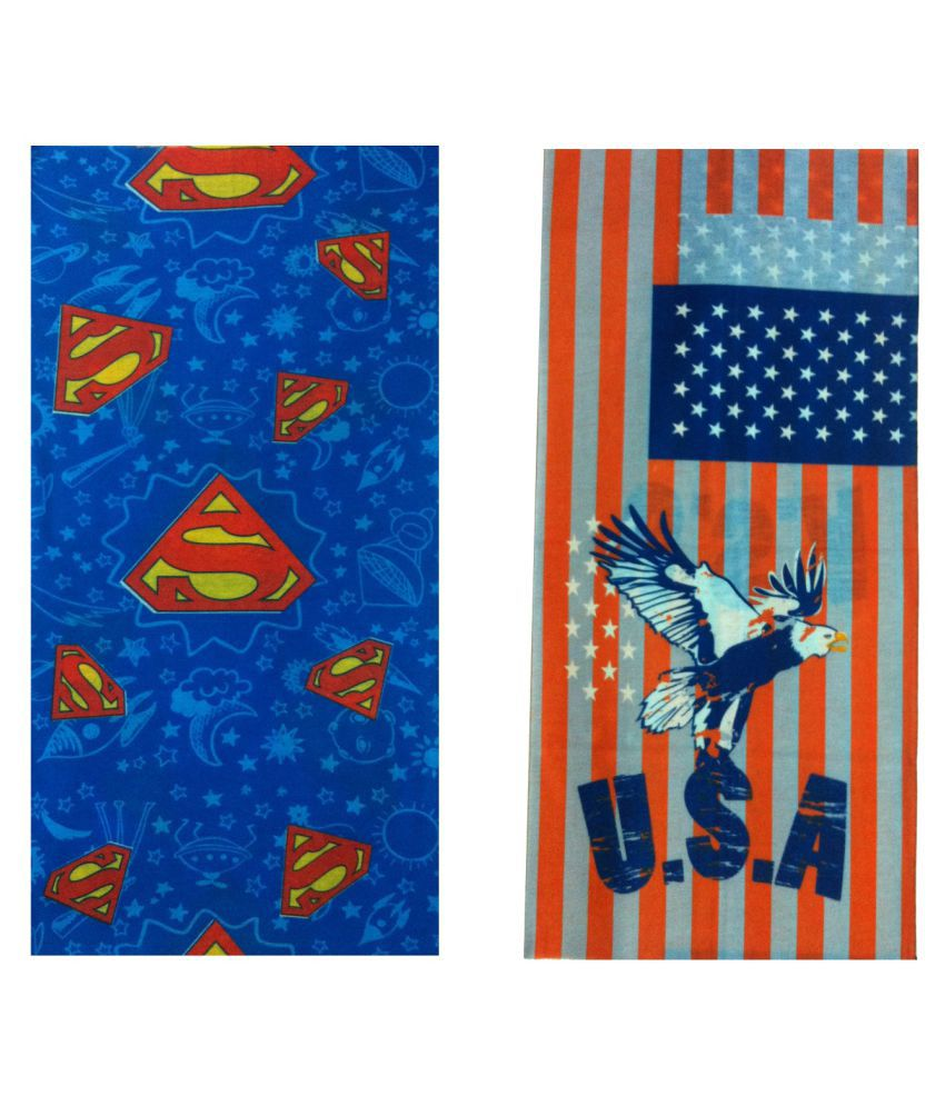 At Your Door Multi Printed Polyester Headwraps