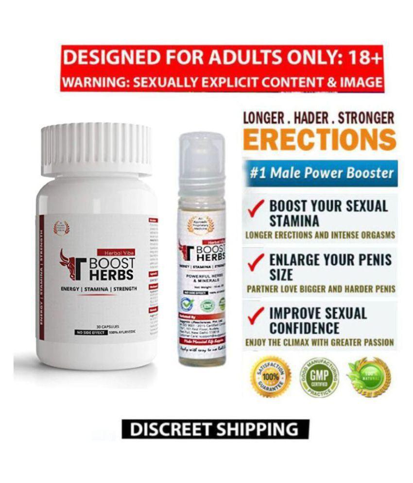 Penis Enlargement Capsules & Oil Herbal Supplement Tboost Stamina Power - Herbal Vibe