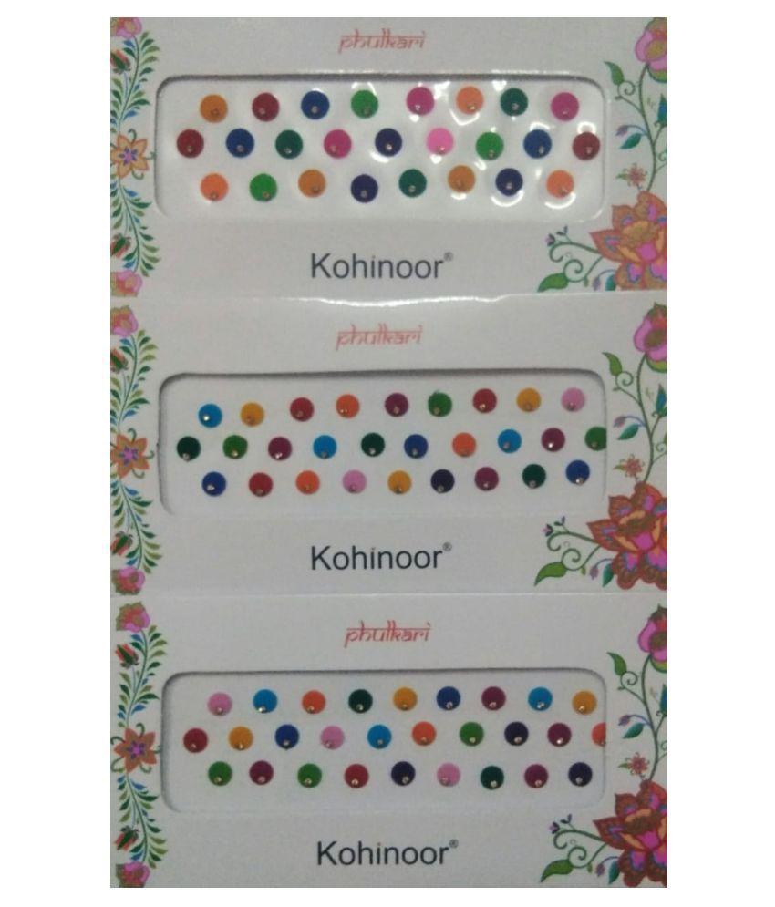 parveen enterprises Multicolour Bindi Stick on 21 g